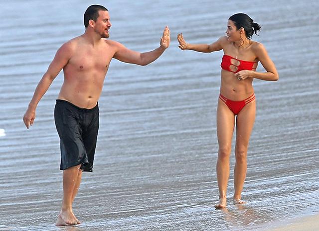 Ченнинг Татум с женой на Гавайях
